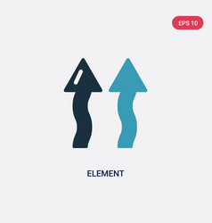 Two color element icon from nature concept vector