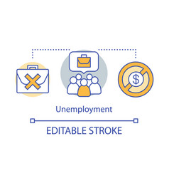 unemployment concept icon joblessness idea thin vector image