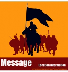 warrior message vector image