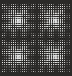 White comic pattern dots on black background vector