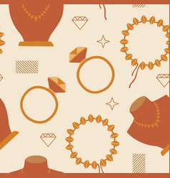 woman fashion jewelry seamless pattern background vector image