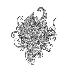 Zentangle floral pattern vector image
