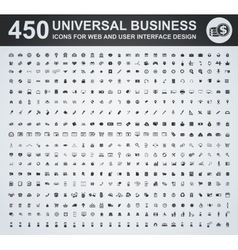 450 Business icon set vector image
