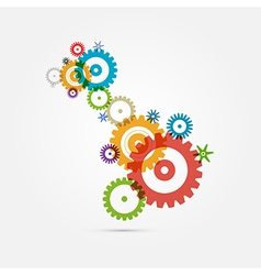Abstract Colorful Cogs - Gears on White Background vector image vector image