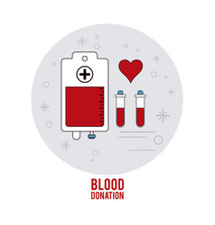 bag tube cross blood donation icon graphic vector image vector image