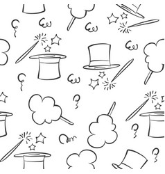 doodle hat circus element collection vector image