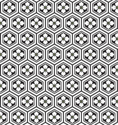 Japnese pattern with flower vector image