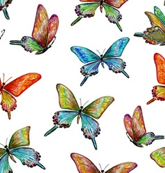 seamless texture with of cute butterflies vector image vector image