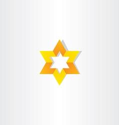 yellow orange star icon sign vector image vector image