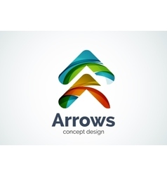 Arrow logo template next or right concept vector image