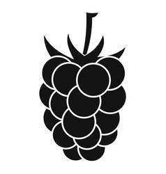 blackberry fruit icon simple style vector image