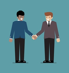 Business people shaking hands during a meeting vector image