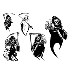 Death skeleton characters vector image vector image
