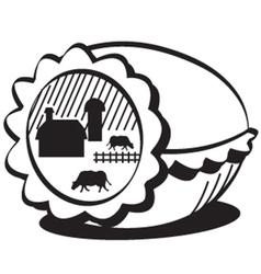 Farm in egg vector image vector image