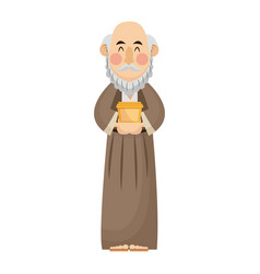 Manger wise king gift christianity character vector