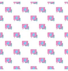 Speech bubbles with bird pattern cartoon style vector image