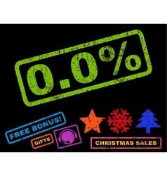 00 percent rubber stamp with bonus vector