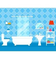 bathroom interior with furniture vector image