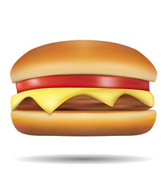 classic burgers on white background vector image