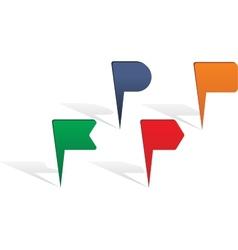 Map pin arrows set vector image