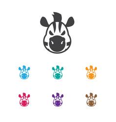 of zoo symbol on zebra icon vector image