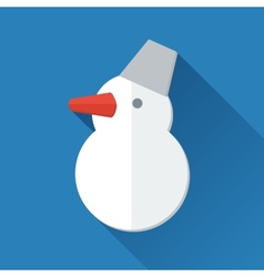 Simple snowman icon in flat style vector image vector image