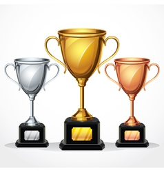 Trophy Cup Set vector image vector image