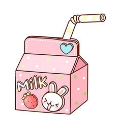 A milk is placed vector image