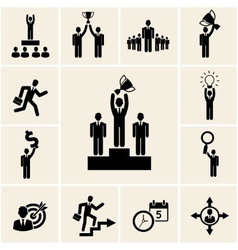 Set of business and career icons vector