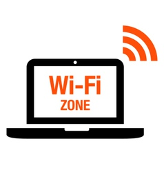 Wi-Fi zone icon vector image