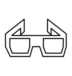 3d glasses isolated icon vector image