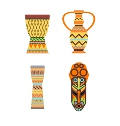 Africa jungle ethnic culture icon vector image