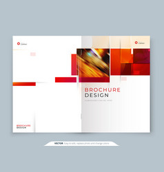 Annual report template layout design corporate vector