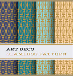 art deco seamless pattern 49 vector image