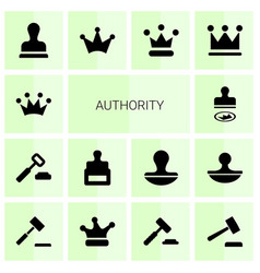 authority icons vector image