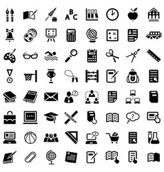 big school icon set vector image