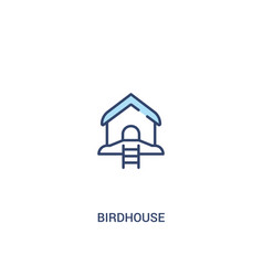 Birdhouse concept 2 colored icon simple line vector