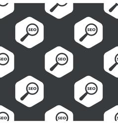 Black hexagon SEO search pattern vector