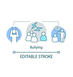 bullying concept icon social prejudice conflicts vector image