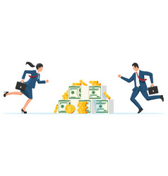 business competition concept vector image