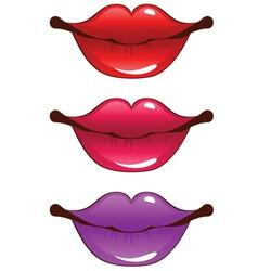 Cartoon lips vector