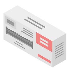 Cartridge printer box icon isometric style vector