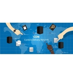 Cdn content delivery network distribution file vector