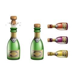 Celebration champagne popping cork bottle pledge vector