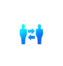Change people icon on white vector