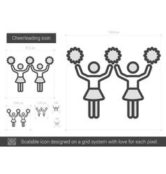Cheerleading line icon vector image