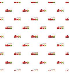 children locomotive pattern vector image