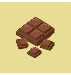 Chocolate Block vector image