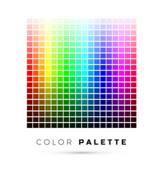 Colorful palette set bright colors rainbow vector