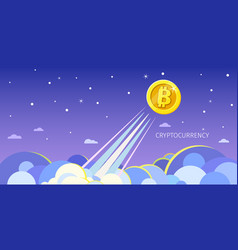 Concept crypto-currency vector